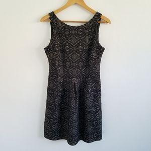 Banana Republic Black Lace Pleated Sheath Dress 4